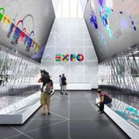 Expo 2015, info point in piazza Castello